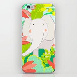 JUNGLE ELEPHANT bright iPhone Skin