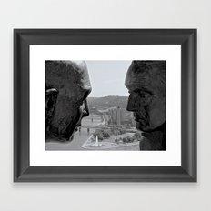 Washington & Guyasuta Framed Art Print