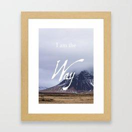 John 14:6 (1 of 3) I Am the Way Inspirational Bible Verse Christian Art Framed Art Print