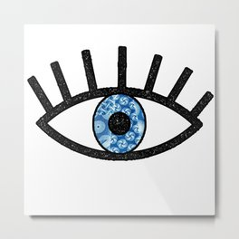 Greek Evil Eye Metal Print