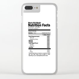 Black Girl Magic Nutrition Facts Clear iPhone Case