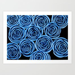 Flowers at Midnight Art Print