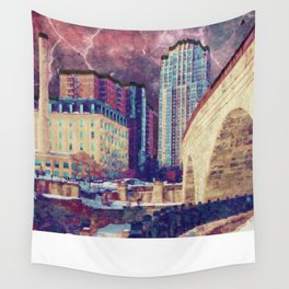 Stone Arch at Night Wall Tapestry