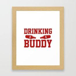 Drinking Buddy Framed Art Print