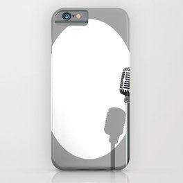 Musical Event Microphone Poster iPhone Case
