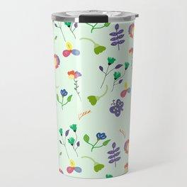 Spring Floral Pattern Travel Mug