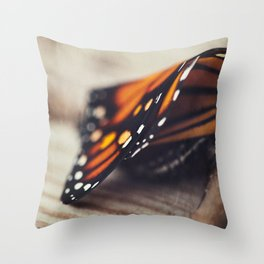 Monarch Study #2 Throw Pillow