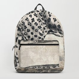 Leopard Sketch (Monochrome) Backpack