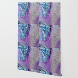Purple Fluid Acrylic Abstract Painting - Slow Down  III Wallpaper