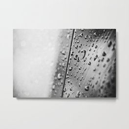 black and white drops Metal Print