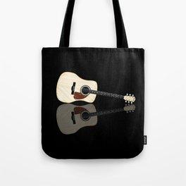 Pale Acoustic Guitar Reflection Tote Bag