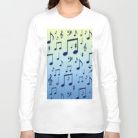 music notes Long Sleeve T-shirts featuring Music notes by Gaspar Avila