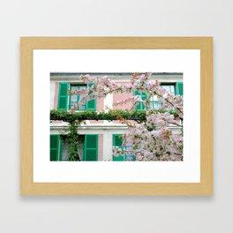 Claude Monet's House Framed Art Print