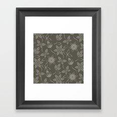 MAUA flora Framed Art Print