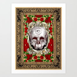 Infinitum - Macabre Gothic Skull Art Print