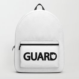 Guard / One word creative typography design Backpack