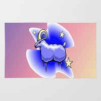 astrology Area & Throw Rugs featuring Astrology, Capricorn by Karl-Heinz Lüpke