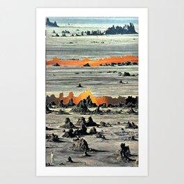 Fire Between the Cracks Art Print