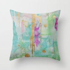 Mint Macaroon Throw Pillow