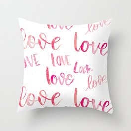 Love Lots - Pink Throw Pillow