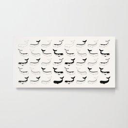 Whales Pattern 01 Metal Print