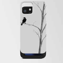 Raven in a Tree iPhone Card Case