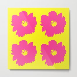 Pink Peony Bouquet (Yellow) Metal Print
