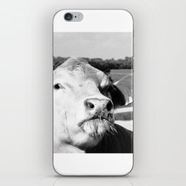 Cowface, Black and White iPhone Skin