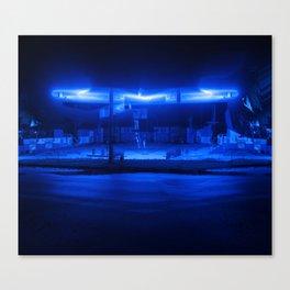 scifi gas station Canvas Print