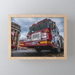 Fire Trucks on Broadview. Street Photography  Framed Mini Art Print