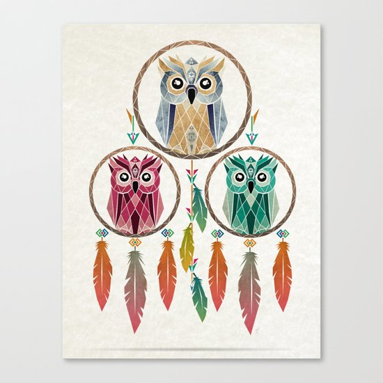 dream owl Canvas Print