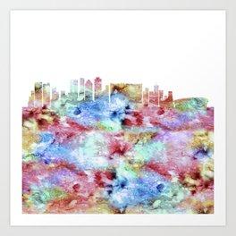 Cape Town City Skyline Art Print