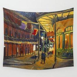 Nola at Night Wall Tapestry