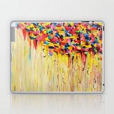 OPPOSITES LOVE Raining Sunshine - Bold Bright Sunny Colorful Rain Storm Abstract Acrylic Painting Laptop & iPad Skin