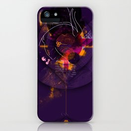 Spiral Geometric Dominance iPhone Case