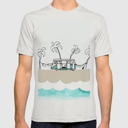 Surfer Van - Surf Art - Gone Surfing T-shirt