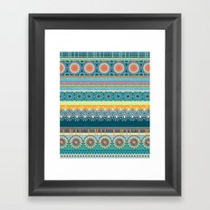 Blue Streaks Framed Art Print