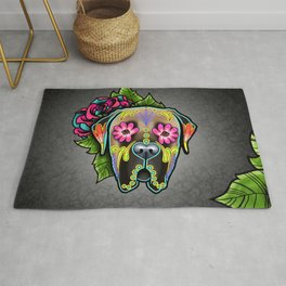 Mastiff in Fawn - Day of the Dead Sugar Skull Dog Rug
