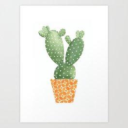 Cactus Best Friends - Prickly Pear Art Print