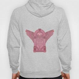 Vintage Flying Illuminati Jukebox Pink Hoody