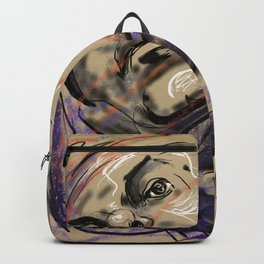 Abstract Head Drawing  Backpack