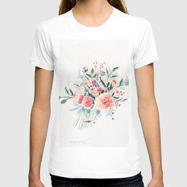 Flowers Bouquet Watercolor T-shirt