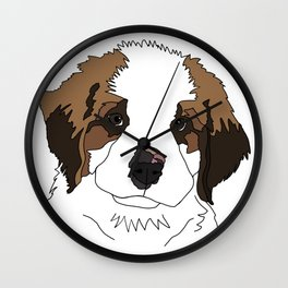 Sully the sweet Saint Bernese Wall Clock