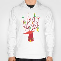 reindeer Hoodies featuring Reindeer by Wharton
