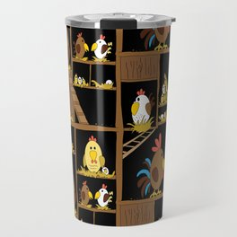 Chicken Coop - chickens, farm, illustration, birds Travel Mug
