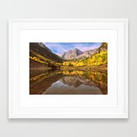 mountains Framed Art Prints featuring mountains. Mirror Lake by 2sweet4words Designs
