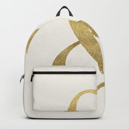 Gold Glitter Ampersand Backpack