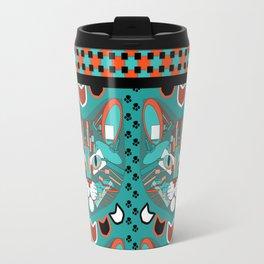 Cubist Cat Travel Mug