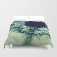 dandelion Duvet Covers featuring dandelion by Ingrid Beddoes