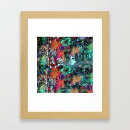 Graffiti and Paint Splatter Framed Art Print